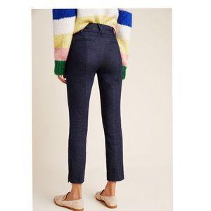 Anthropologie Essential Slim Cropped Dark Jeans